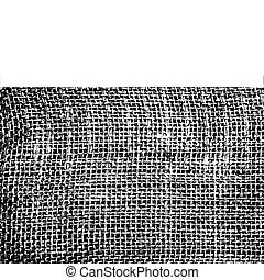 Vector texture of grunge sack material