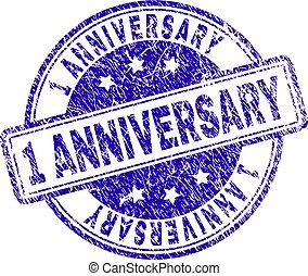 Grunge Textured 1 ANNIVERSARY Stamp Seal