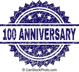 Grunge Textured 100 ANNIVERSARY Stamp Seal