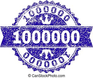 Grunge Textured 1000000 Stamp Seal with Ribbon