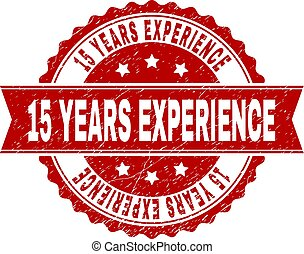 Grunge Textured 15 YEARS EXPERIENCE Stamp Seal