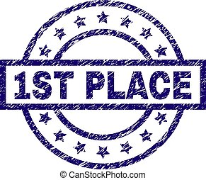 Grunge Textured 1ST PLACE Stamp Seal