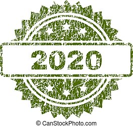 Grunge Textured 2020 Stamp Seal
