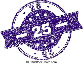 Grunge Textured 25 Stamp Seal