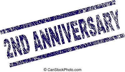 Grunge Textured 2ND ANNIVERSARY Stamp Seal