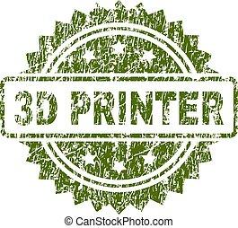 Grunge Textured 3D PRINTER Stamp Seal