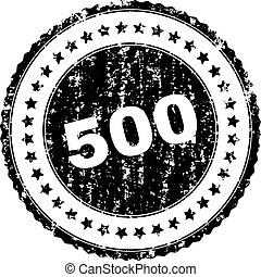 Grunge Textured 500 Stamp Seal