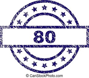 Grunge Textured 80 Stamp Seal
