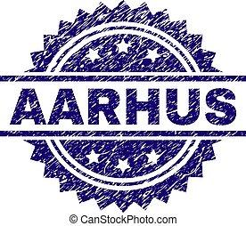 Grunge Textured AARHUS Stamp Seal