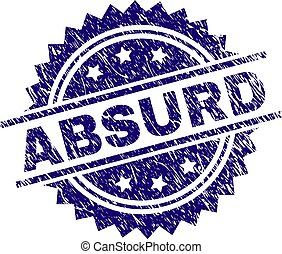 Grunge Textured ABSURD Stamp Seal
