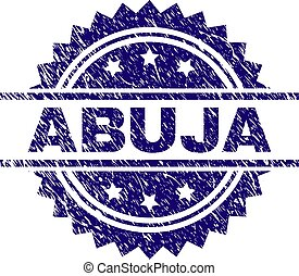 Grunge Textured ABUJA Stamp Seal
