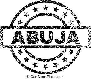 Grunge Textured ABUJA Stamp Seal - ABUJA stamp seal...