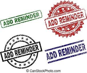 Grunge Textured ADD REMINDER Stamp Seals