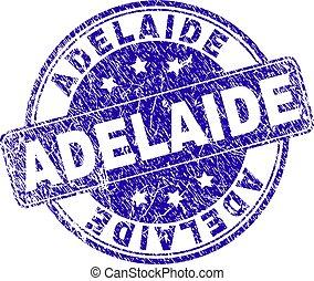 Grunge Textured ADELAIDE Stamp Seal