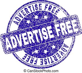 Grunge Textured ADVERTISE FREE Stamp Seal