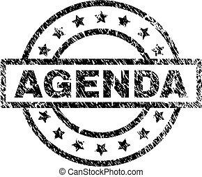 Grunge Textured AGENDA Stamp Seal