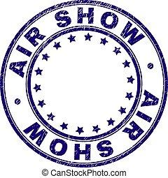 Grunge Textured AIR SHOW Round Stamp Seal