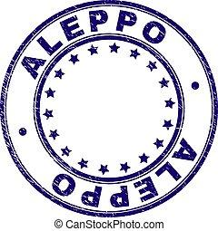 Grunge Textured ALEPPO Round Stamp Seal