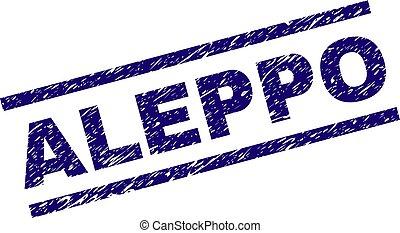 Grunge Textured ALEPPO Stamp Seal