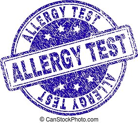 Grunge Textured ALLERGY TEST Stamp Seal