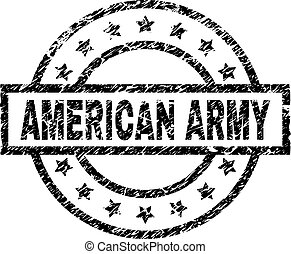 Grunge Textured AMERICAN ARMY Stamp Seal