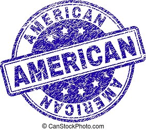 Grunge Textured AMERICAN Stamp Seal