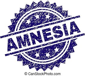 Grunge Textured AMNESIA Stamp Seal - AMNESIA stamp seal...