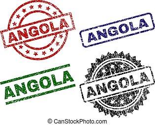Grunge Textured ANGOLA Stamp Seals