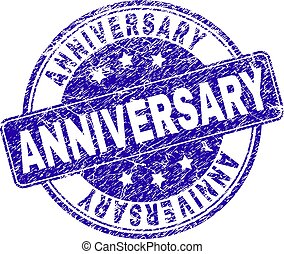 Grunge Textured ANNIVERSARY Stamp Seal