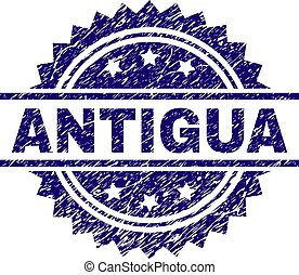 Grunge Textured ANTIGUA Stamp Seal