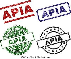Grunge Textured APIA Stamp Seals