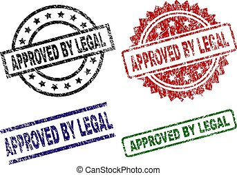 Grunge Textured APPROVED BY LEGAL Seal Stamps