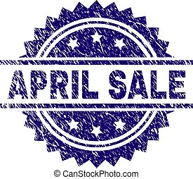 Grunge Textured APRIL SALE Stamp Seal
