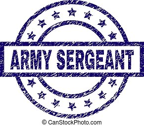 Grunge Textured ARMY SERGEANT Stamp Seal