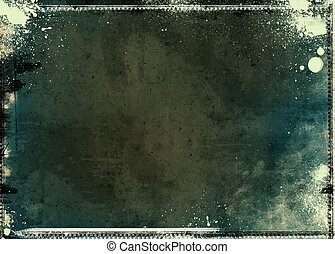 Grunge textured artistic frame - Computer designed highly...