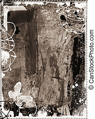 Grunge textured artistic frame