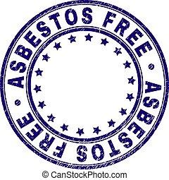 Grunge Textured ASBESTOS FREE Round Stamp Seal