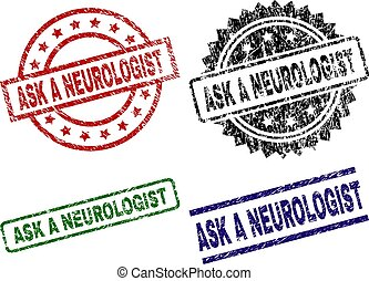 Grunge Textured ASK A NEUROLOGIST Stamp Seals - ASK A...