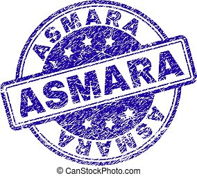 Grunge Textured ASMARA Stamp Seal
