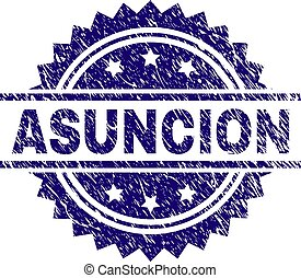 Grunge Textured ASUNCION Stamp Seal