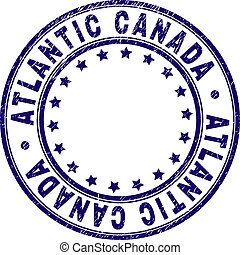 Grunge Textured ATLANTIC CANADA Round Stamp Seal