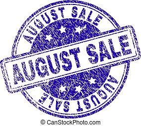 Grunge Textured AUGUST SALE Stamp Seal