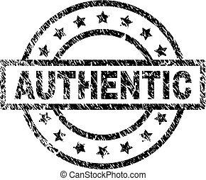 Grunge Textured AUTHENTIC Stamp Seal