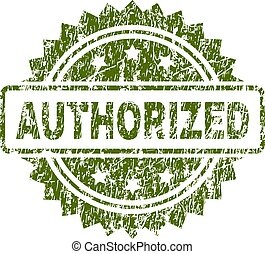 Grunge Textured AUTHORIZED Stamp Seal