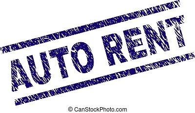 Grunge Textured AUTO RENT Stamp Seal
