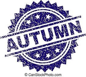 Grunge Textured AUTUMN Stamp Seal