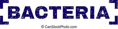 Grunge Textured BACTERIA Stamp Seal Inside Corners -...