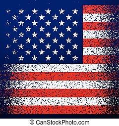 grunge, textured, bandeira americana, fundo