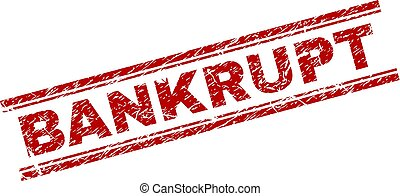 Grunge Textured BANKRUPT Stamp Seal