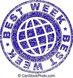 Grunge Textured BEST WEEK Stamp Seal